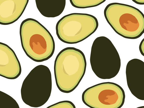 Avocado Pattern Design and Illustration by Melissa Lopez